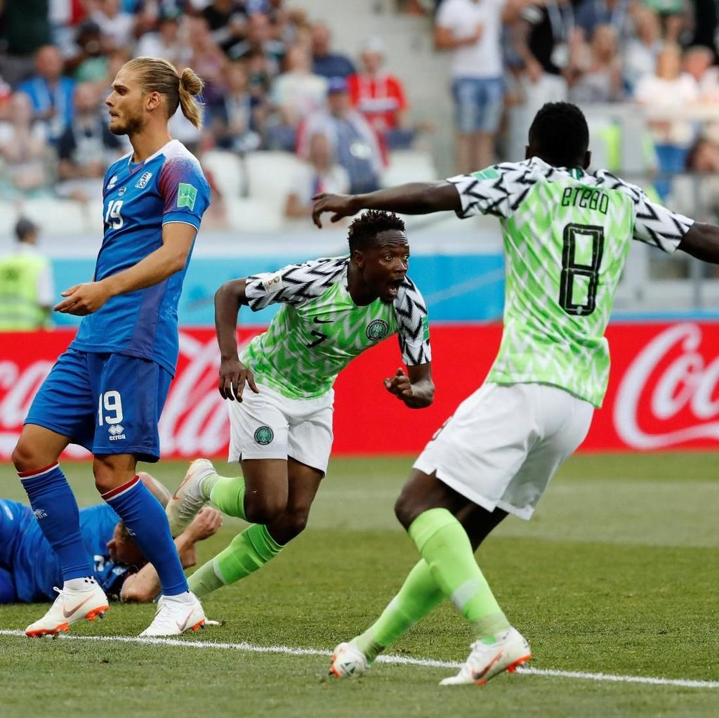 Nigeria Benamkan Islandia 2-0