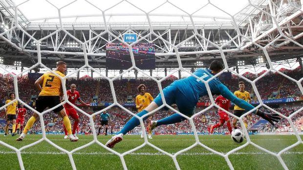 Tunisia kalah 2-5 dari Belgia.
