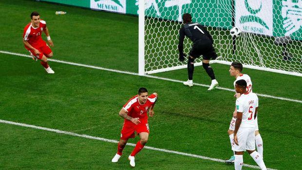 Serbia bisa unggul cepat karena beruntung.