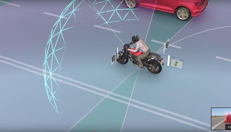 Fitur Keselamatan Motor Pakai Kamera 360 derajat. Foto: Istimewa