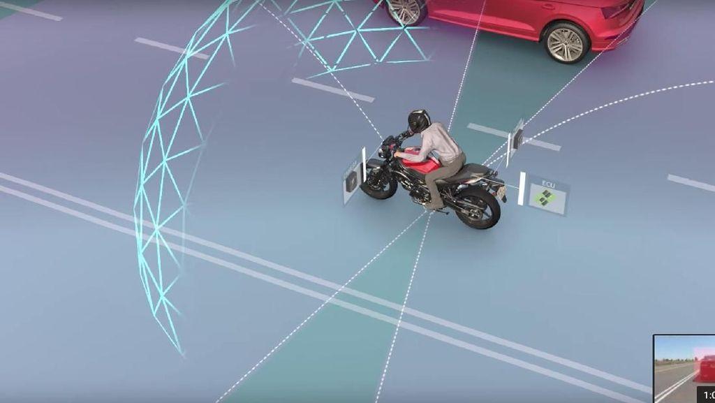 Pakai Teknologi Ini, Pemotor Bisa Terhindar dari Tabrakan