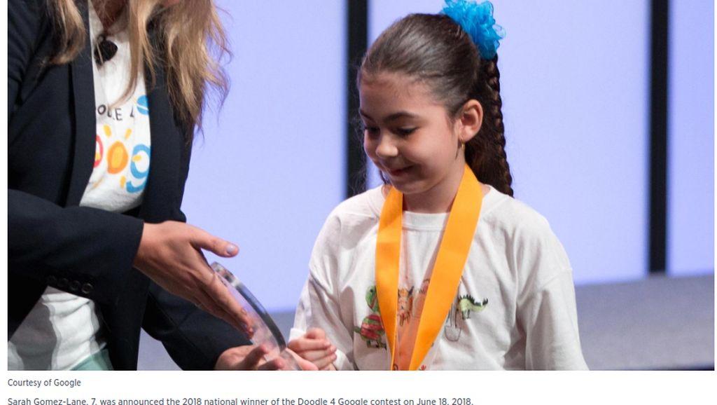 Kisah Coretan Bocah Kelas 1 SD yang Memenangkan Kontes dari Google