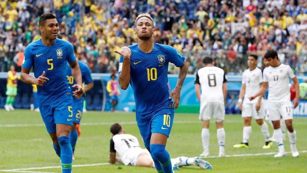 Hasil Pertandingan Piala Dunia 2018: Brasil Vs Kosta Rika Skor 2-0
