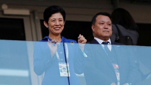 Putri Takamado turut hadir di laga Jepang vs Senegal.