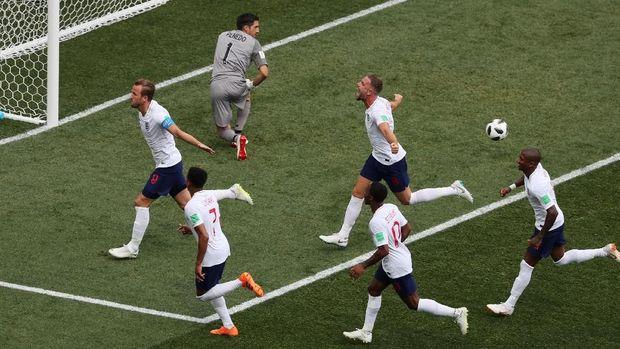 Timnas Inggris dihuni oleh pemain-pemain muda di Piala Dunia 2018.