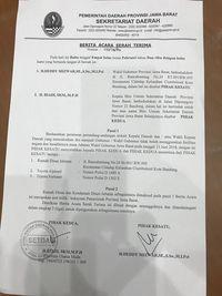 Rumdin Wagub Jabar Sudah Diserahkan Deddy Mizwar Sejak Februari