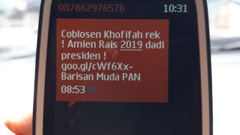 Beredar SMS Coblos Salah Satu Paslon, Ini Kata Bawaslu