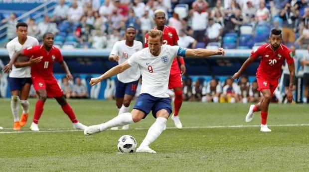 Harry Kane untuk sementara berada di barisan terdepan dalam perebutan gelar top skor Piala Dunia 2018.