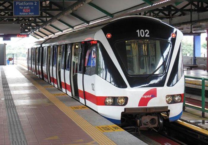 LRT Malaysia yang bernama Kelana Jaya Line dibangun sepanjang 34,7 Km dan telah selesai dibangun sejak 2016. Istimewa/Myrapid.