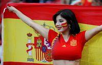 Suporter SPanyol juga banyak mendatangi Piala Dunia 2018 (REUTERS/Jorge Silva)