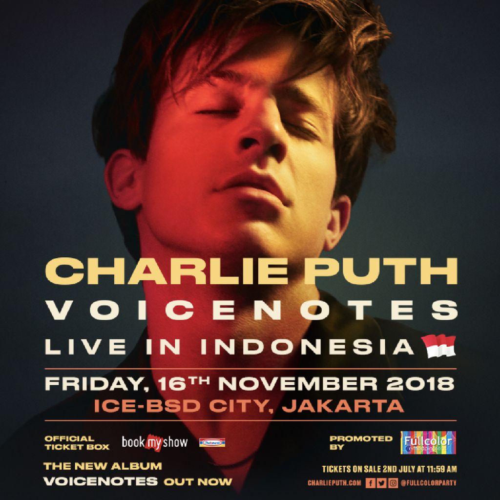 Tiket Tur Chalie Puth di Indonesia Dijual Pekan Depan