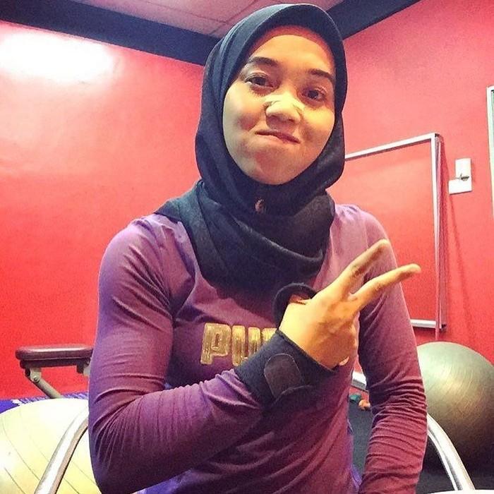 Fatin yang akrab disapa Aten mengaku awalnya ia sering diledek karena memiliki badan terlalu kurus. (Foto: Instagram/atenkinda_)