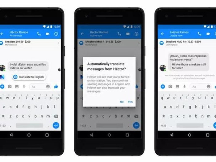 Dark mode di Facebook Messenger mulai diuji. (Foto: Facebook)