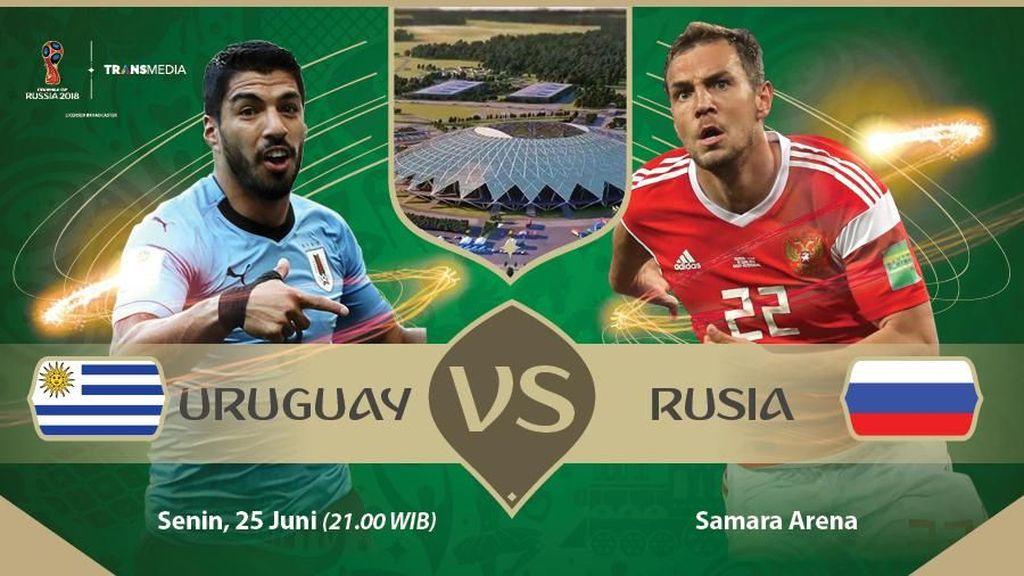 Live Report Piala Dunia 2018: Uruguay Vs Rusia