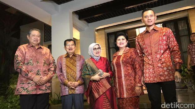 Wapres JK bertemu Presiden ke-6 Susilo Bambang Yudhoyono (SBY).