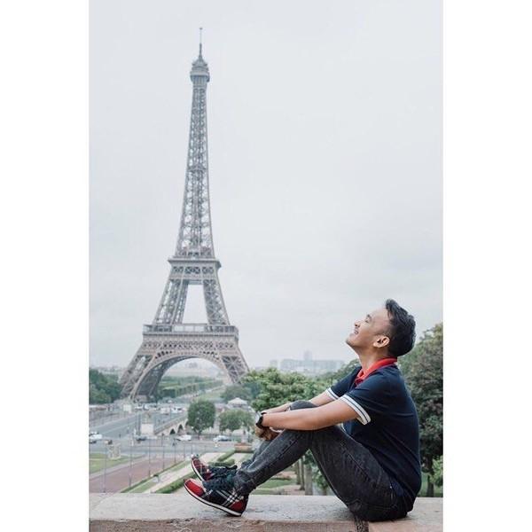 Keseruan libur Lebaran di Prancis dibagikan Ruben melalui Instagram priadinya. (ruben_onsu/Instagram)