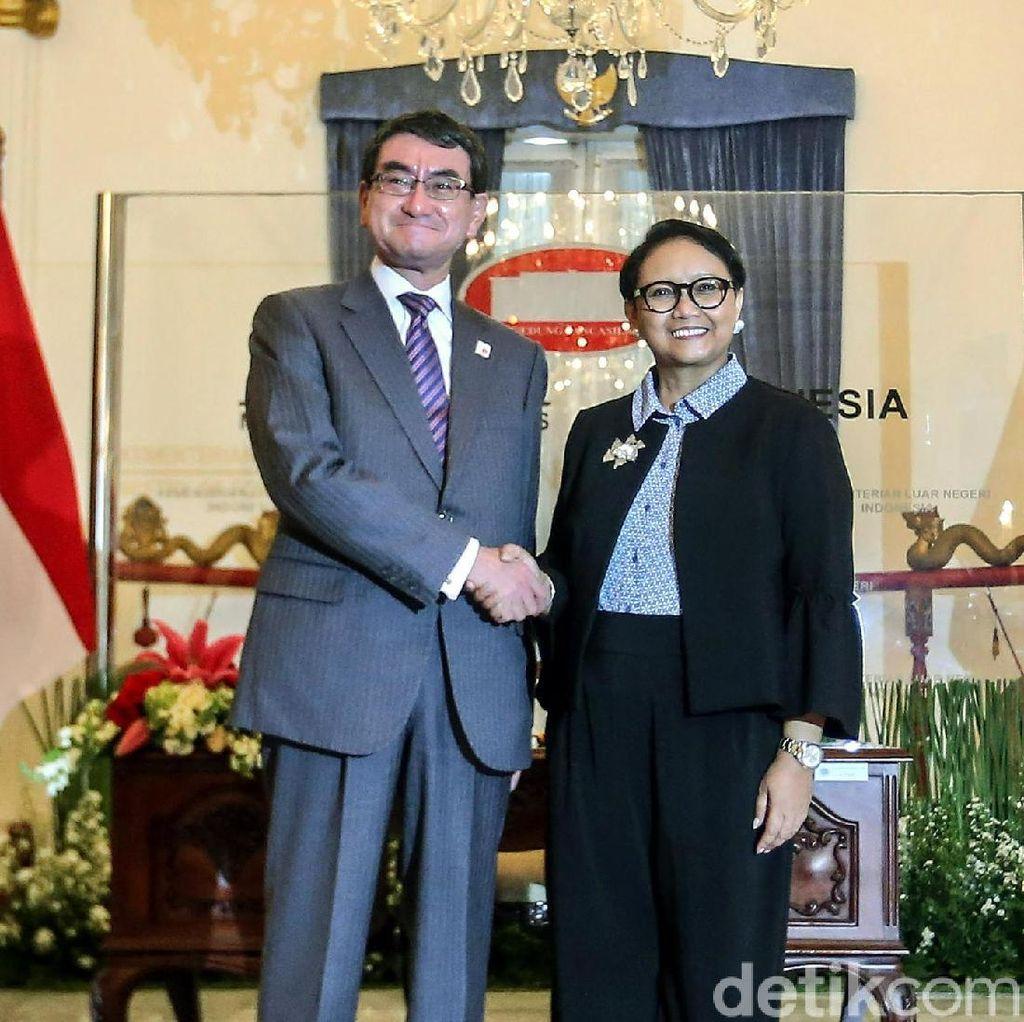Foto: Pertemuan Menlu RI dan Menlu Jepang