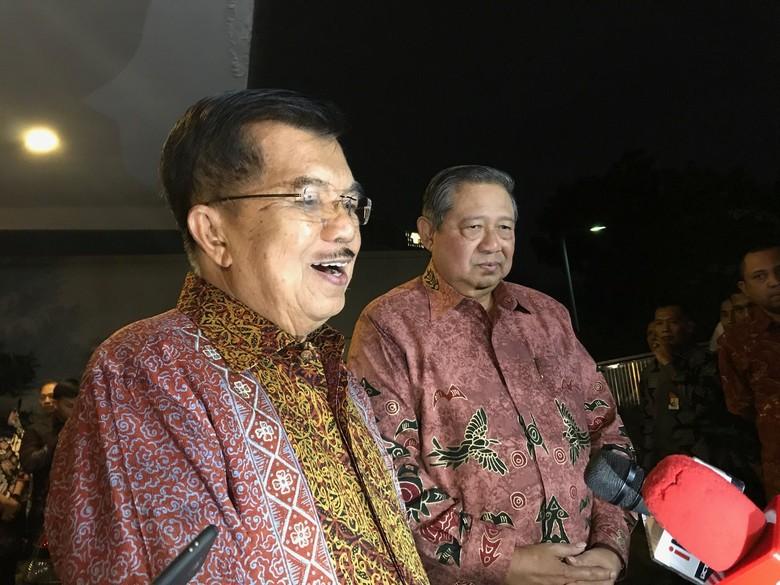 JK soal Isi Pertemuan dengan SBY: Kekeluargaan, Bahas Cucu