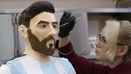 Kue Ultah Lionel Messi Seukuran Orang Aslinya, Mirip Tidak Ya?