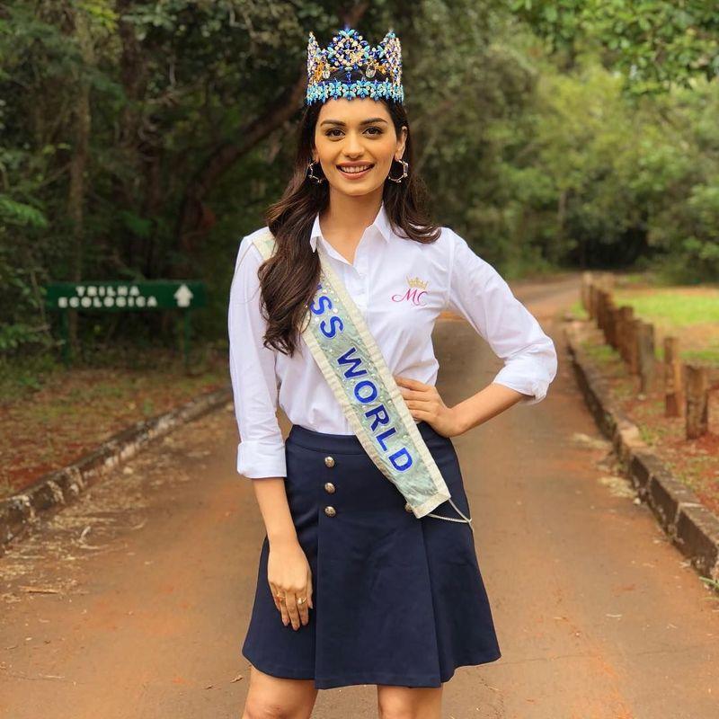 Manushi Chhillar adalah Miss World 2017. Ia berasal dari India (manushi_chhillar/Instagram)