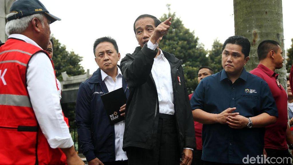 Kedekatan Jokowi dan Erick Thohir di Asian Games 2018