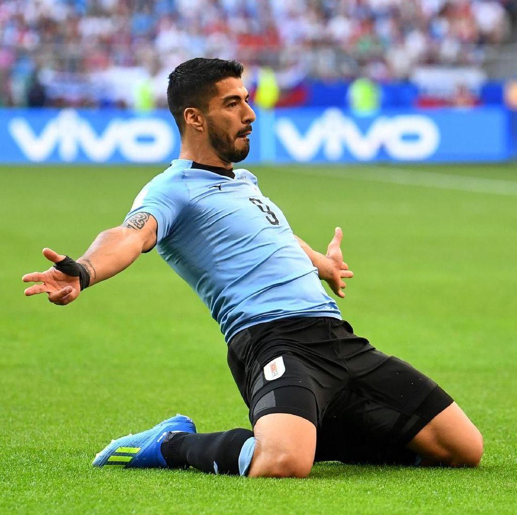 Luis Suarez Dekati Rekor Gol Uruguay di Piala Dunia