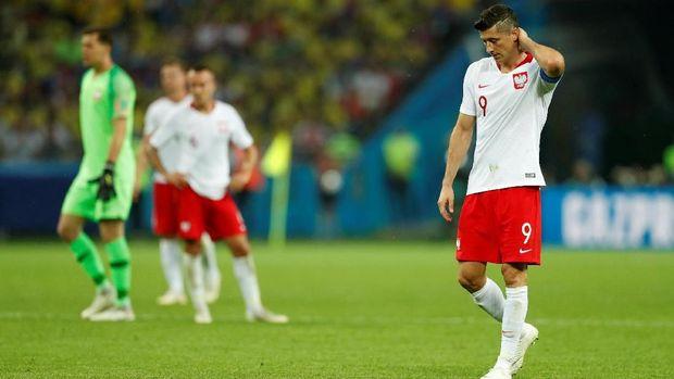 Robert Lewandowski belum mampu mencetak gol di Piala Dunia 2018.