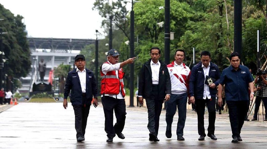Presiden Jokowi Pastikan Venue di Kompleks GBK Beres