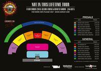 Daftar lengkap harga tiket konser Guns N' Roses di Jakarta.