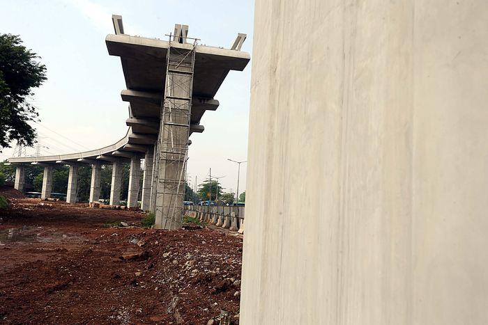 Total panjang LRT Jabodebek tahap I mencapai 44,4 km. Rengga Sancaya/detikcom.