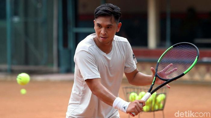 Christopher Runngkat menjadi andalan Indonesia di SEA Games 2019 Filipina. (Grandyos Zafna/detikSport)