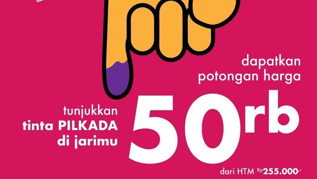 Tunjukkan Tinta Pilkada, Trans Studio Makassar Beri Diskon Spesial