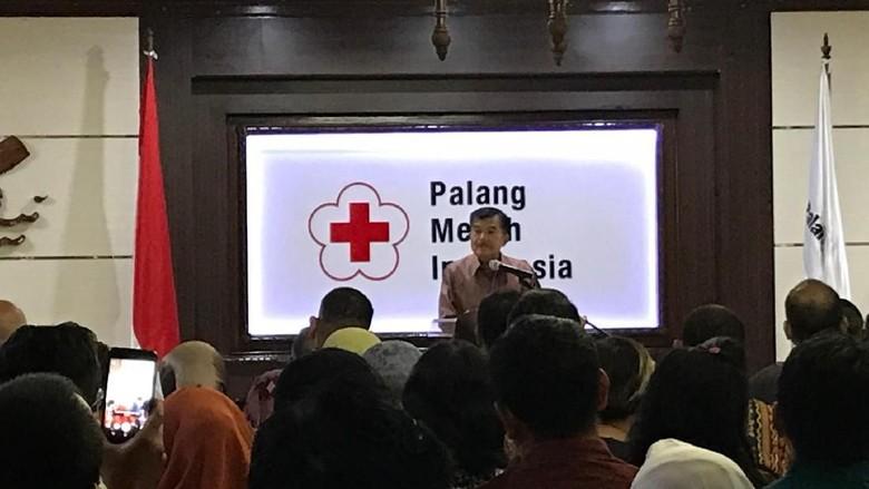 JK Ajak Pegawai PMI Berdoa Agar Tak Banyak Bencana