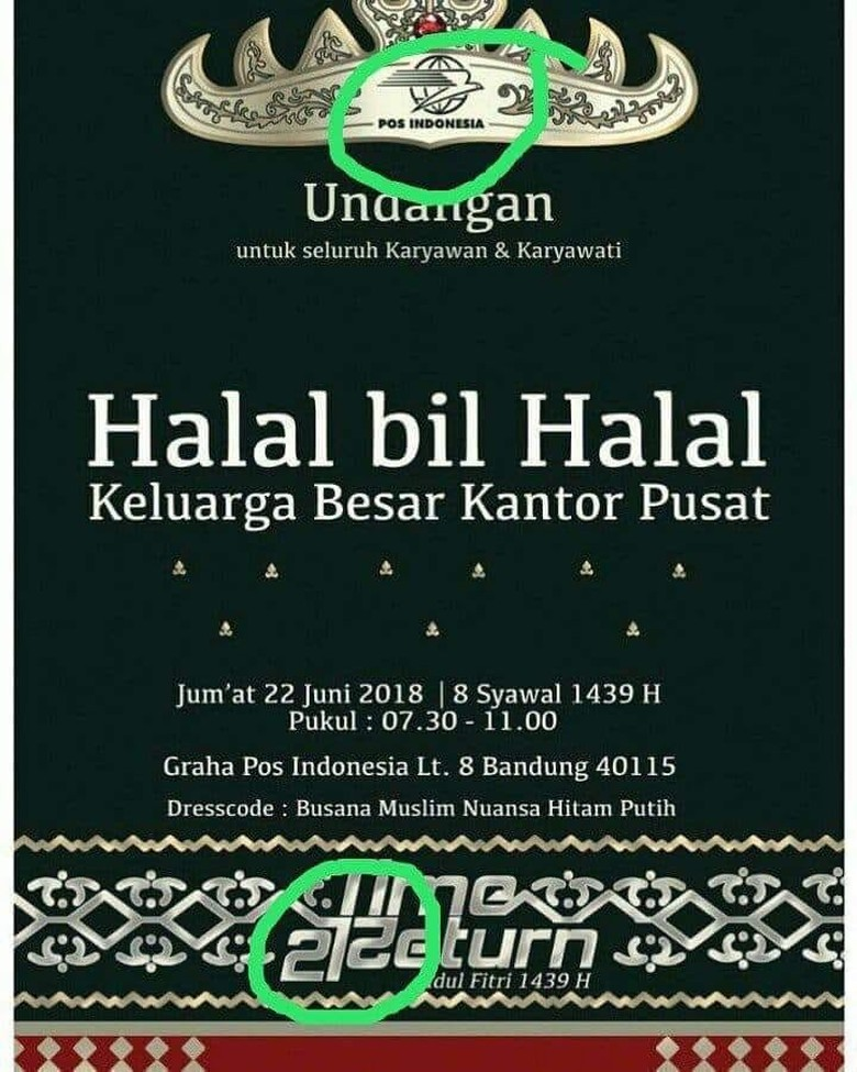 Poster Pos Indonesia 272 Ramai Dibahas, Dikira 212