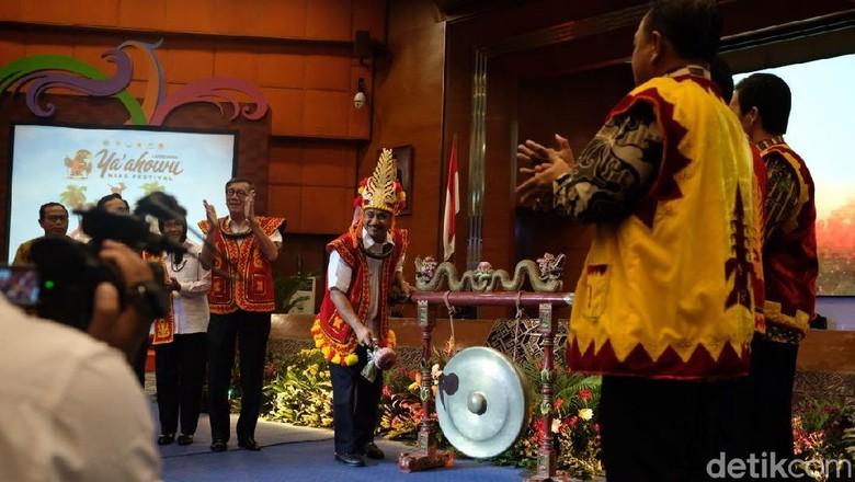 Peluncuran Festival Yaahowu Nias 2018 di Kemenpar (istimewa)