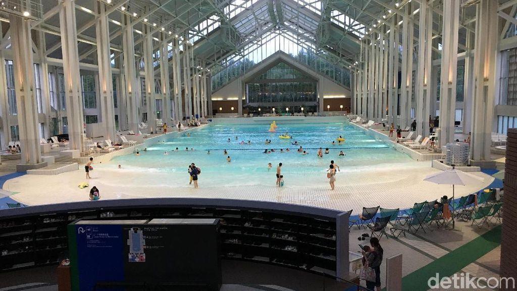 Kolam Renang Indoor Terbesar di Jepang, Seperti Pantai Sungguhan