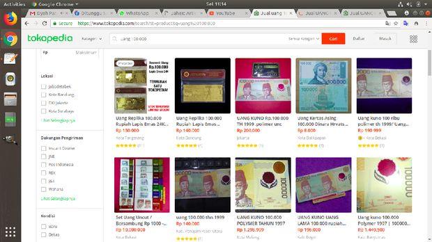 Rupiah yang Mau Ditarik BI Banyak Dijual Online hingga Jutaan