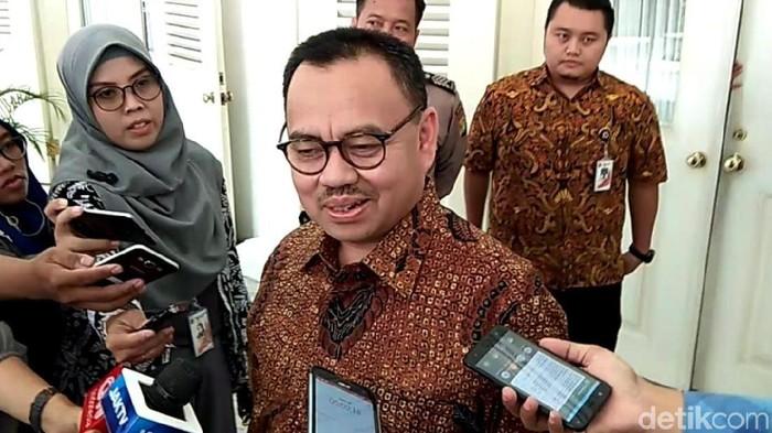 Cagub Jateng Sudirman Said di Balai Kota DKI Jakarta. (Fida/detikcom)