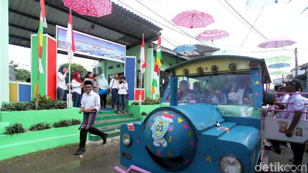 Mengintip Pernak-Pernik Meriah di Kampung Pilkada Depok