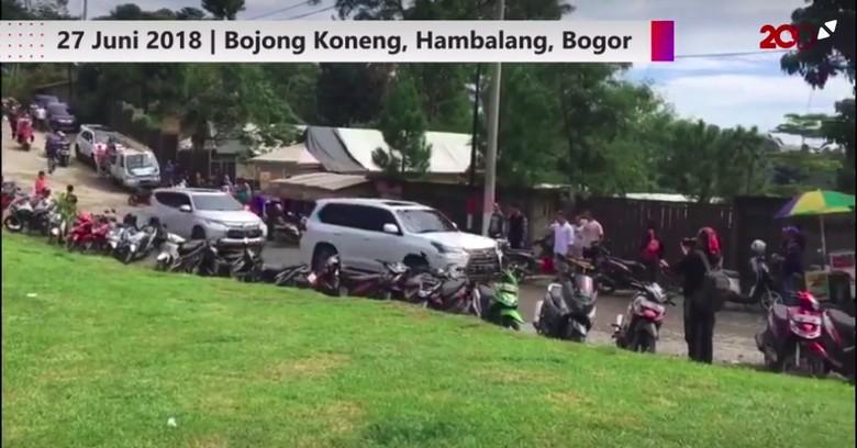Prabowo Naik SUV Lexus. Foto: Screenshot 20detik