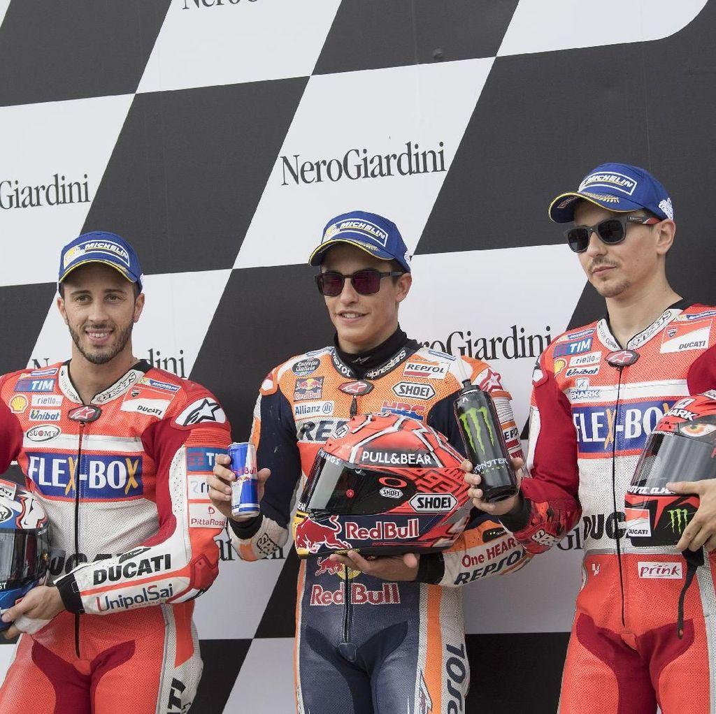 Antara Lorenzo dan Dovizioso, Siapa Lawan Terberat Marquez di MotoGP Aragon?