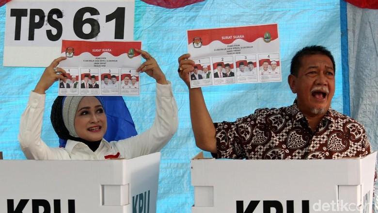 Usai Nyoblos, Deddy Mizwar ke Bandung Pantau Quick Count