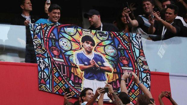 Nama Diego Maradona masih dihormati di Argentina hingga saat ini.
