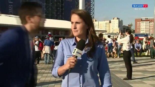 Julia Guimaraes dilecehkan penonton Piala Dunia 2018.