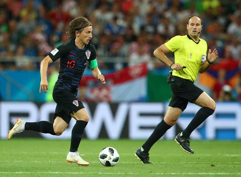 Luka Modric akan menjadi tumpuan Kroasia saat menghadapi Inggris, Kamis (12/7) dinihari nanti. Talenta Luka Modric ternyata berasal dari kota pelabuhan cantik bernama Zadar. (Max Rossi/Reuters)