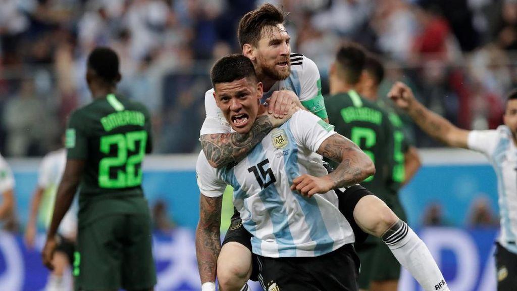 Pesan Messi ke Rojo Sebelum Cetak Gol Kemenangan Argentina