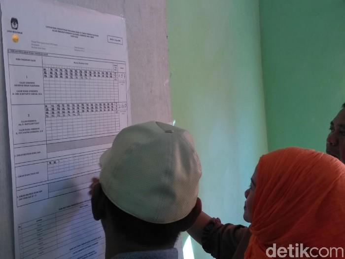 Penghitungan suara di TPS Risma/Foto: Deny Prastyo Utomo