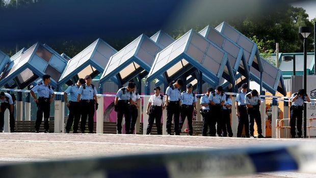 Lokasi penembakan langka di Hong Kong yang menewaskan dua orang