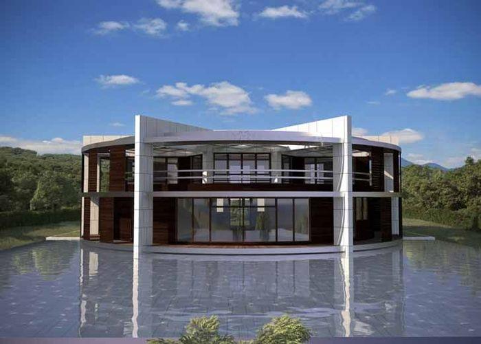 Di bagian belakang rumah terdapat kolam renang dengan ukuran yang cukup luas. Istimewa/Inhabitat