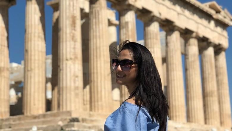 Foto: Maudy Koesnaedi liburan ke Yunani (maudykoesnaedi/Instagram)